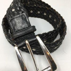 Michael Kors Black Studded Belt size Large